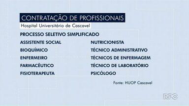 Cascavel abre processo seletivo para contratar mais de 100 profissionais da área da saúde - Provas de processo seletivo acontecem no domingo em Cascavel.
