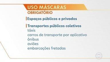 Bolsonaro veta uso obrigatório de máscara no comércio e em templos - O presidente Jair Bolsonaro sancionou, com vetos, uma lei que torna obrigatório o uso de máscaras em locais públicos.