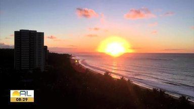 Veja imagens do amanhecer em Alagoas - Foto foram enviadas pelo Whatsapp 99403-0740
