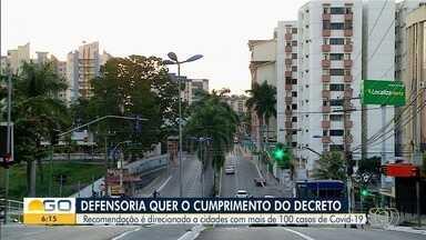 DPE recomenda que municípios com mais de 100 casos de Covid-19 acatem medidas do estado - Decreto determina fechamento de atividades por 14 dias, seguido de funcionamento normal por igual período.