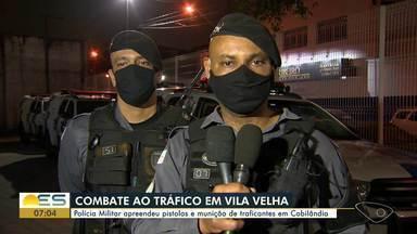 PM apreende pistolas e munição de traficantes em Vila Velha, ES - Material foi apreendido em Cobilândia.
