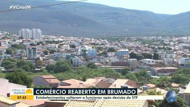Comércio volta a funcionar em Brumado, mas é fechado em Jaguaquara por causa da Covid-19 - Confira notícias sobre a pandemia no sudoeste do estado.