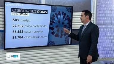 Goiás tem 602 mortes e 27.502 casos confirmados de coronavírus - Estado ainda investiga mais de 66 mil casos suspeitos.