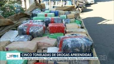 Polícia apreende mais de 5 toneladas de drogas em Anápolis - Rotam atende 24 ocorrências de tráfico de drogas em um dia.