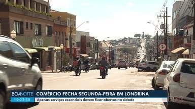 Comércio não essencial fecha em Londrina, a partir da próxima segunda-feira - A secretaria estadual de Saúde notificou as cidades que ainda não haviam cumprido o decreto estadual.