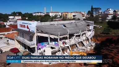 Polícia instaura inquérito para saber as causas do desabamento de um prédio em Colombo - 5 pessoas da mesma família ficaram feridas, entre elas 2 crianças