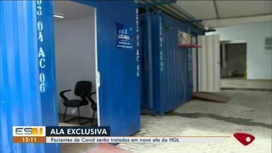 Hospital Geral de Linhares cria ala para tratamento de pacientes de Covid-19, no ES - Veja a reportagem.