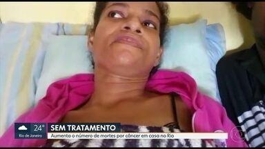 Dobra o número de morte por câncer dentro de casa no Rio - Sociedade Brasileira de Oncologia afirma que é urgente a normalização do tratamento para evitar mais mortes.