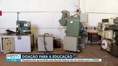 Máquinas apreendidas pela Receita Federal são doadas para IFNMG - Equipamentos eram usados para a fabricação clandestina de cigarros.