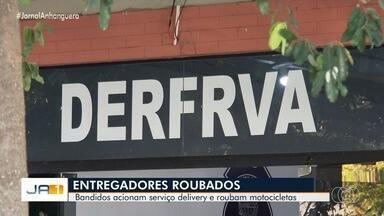 Criminosos acionam serviço delivery e roubam moto de entregadores, em Goiânia - Crime é investigado pela Polícia Civil.