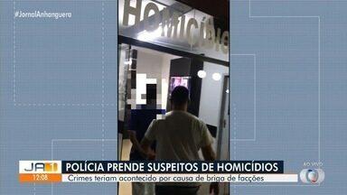 Polícia prende cinco pessoas suspeitas de homicidios por conta de briga por tráfico, em GO - Crimes seriam motivados por crimes de facções criminosas.
