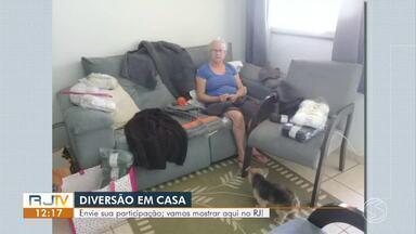 Telespectadores mostram como têm aproveitado tempo em casa durante pandemia - Vídeos e fotos podem ser enviados para a TV Rio Sul através do WhatsApp. O número é (24) 99313-9599.