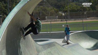SLO Skatepark (Califórnia) - A barca segue para Los Osos, na sequência para uma pista mais que perfeita em San Luis Obispo e chega na lendária cidade de Santa Cruz.