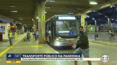 Motoristas de ônibus enfrentam dificuldades durante o trabalho na pandemia - Duas agressões foram registradas depois que profissionais impediram o embarque de passageiros sem máscaras.