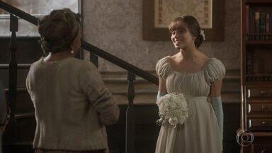 Cecília se arruma para o casamento - Matias afirma que a manterá afastada de Sebastião
