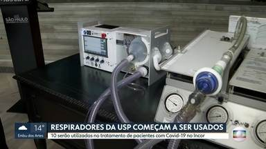 Respiradores da USP começam a ser usados no tratamento contra a Covid, no Incor - O anúncio vai ser feito pelo governo no Palácio Bandeirantes.