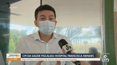 Deputado Péricles Nascimento fala da visita ao hospital Francisca Mendes - Comissão verifica o funcionamento do hospital.