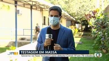 Governo de Goiás vai fazer testagem para detectar Covid-19 em 78 cidades - Informação foi confirmada pelo secretário de Saúde.