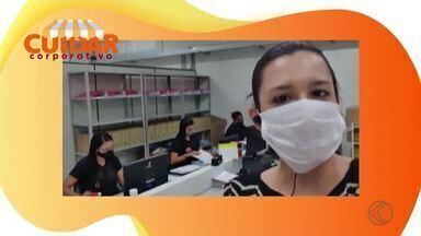 Cuidar corporativo: pandemia muda rotina de supermercado - Zebu Carnes Supermercados, de Uberaba, adapta rotina dos 750 colaboradores, com parte da equipe em home office e limite de pessoas por ambiente.