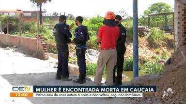 Mulher é encontrada morta em Caucaia - Saiba mais no g1.com.br/ce
