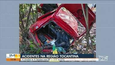 Acidentes nas BR-222 e 010 deixam mortos e feridos - Veja mais informações com a repórter Diulia Sousa.