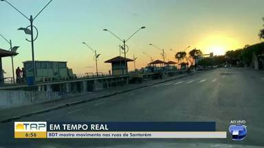 Confira a movimentação nas primeiras horas da manhã em Santarém - Veja como está o trânsito em ruas da cidade.