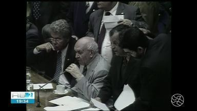 Ex-presidente da Câmara dos Deputados Severino Cavalcanti é enterrado em João Alfredo - Sepultamento ocorreu nesta quarta-feira (15). Deputado federal por três mandatos, ele renunciou em 2005 em meio ao escândalo do 'mensalinho'.