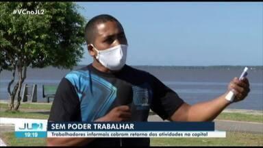 Trabalhadores informais de Belém reclamam de prejuízos devido à suspensão das atividades - Vendedores são uns dos mais afetados na pandemia de Covid-19.