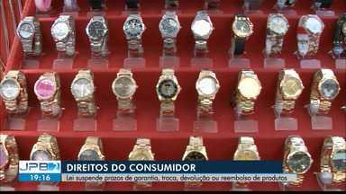 Lei suspende prazos de garantia, troca, devolução e reembolso de produtos na Paraíba - Direitos do consumidor