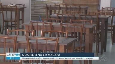 Prefeitura de Macapá renova decretos e flexibiliza reabertura de academias e restaurantes - Locais devem seguir medidas rígidas de higiene e distanciamento. Horário de serviços essenciais foi ampliado.