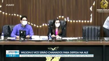 Wilson e vice serão chamados para defesa na ALE - Comissão de impeachment aprovou notificação para defesa do governador e de Carlos Almeida