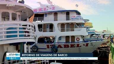 AM tem retorno de viagens de barco - Transporte fluvial de passageiros está permitido, mas pandemia impõe restrições