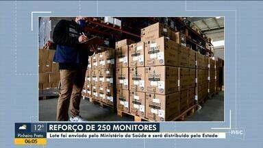 Lote com 250 monitores enviado pelo Ministério da Saúde será distribuído em SC - Lote com 250 monitores enviado pelo Ministério da Saúde será distribuído em SC