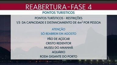 Cristo e Pão de Açúcar só devem reabrir em agosto - Outros pontos turísticos já estão autorizados a funcionar.