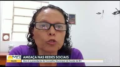 Presidente do Conselho Municipal de Saúde de BH é ameaçada nas redes sociais - Carla Anunciatta registrou um boletim de ocorrência e caso é investigado pela Polícia Civil.