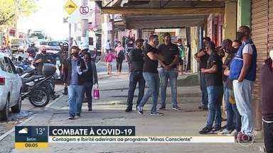 """Combate à Covid-19: Contagem e Ibirité aderiram ao programa """"Minas Consciente"""". - O programa do governo estadual define regras para funcionamento do comércio, durante a pandemia da Covid-19."""