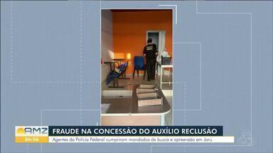 Agentes da polícia federal cumpriram mandados em Jaru - Trabalho faz parte da operação Confinamento, que investiga fraudes no pagamento do auxílio reclusão.