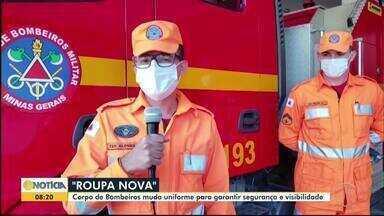 Bombeiros militares recebem novo uniforme para garantir mais segurança no trabalho - Fardamento cinza foi substituído pela cor laranja, que possui maior visibilidade.