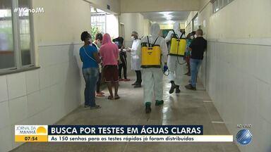 Testes rápidos para coronavírus terminam nas primeiras horas desta sexta, em Águas Claras - Confira o movimento no bairro, que conta com medidas restritivas mais severas para conter o avanço da doença.
