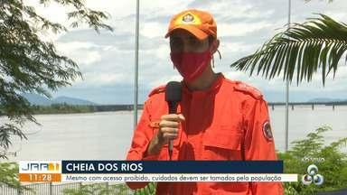 Cheias dos rios:Banhistas devem redobrar os cuidados em balneários de Boa Vista. - Mesmo com acesso proibido, cuidados devem ser tomados pela população.