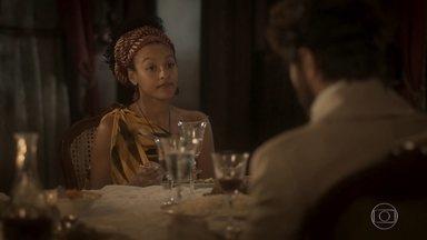 Diara se preocupa com sugestão de Greta - Greta sugere que Ferdinando volte a morar na casa de Wolfgang