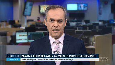 Mais 46 mortes por coronavírus são registradas no Paraná - Sesa confirmou 1.900 novos casos nesta sexta-feira (17).