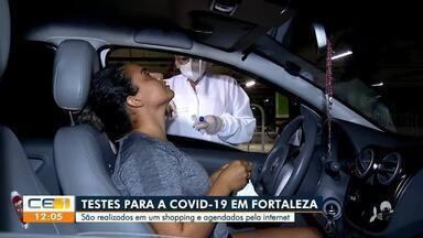 Testes para covid em Fortaleza realizados em shopping são agendados - Saiba mais em: g1.com.br/ce