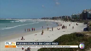 Cabo Frio, RJ, vive indefinição quanto ao decreto de medidas de isolamento social - Equipe do RJ1 flagra descumprimentos ao decreto anterior nas praias do município.