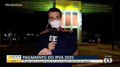 Detran prorroga prazo para pagamento de IPVA para até 06 de agosto, em Goiás - Veja como vai funcionar.