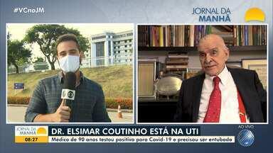 Médico Elsimar Coutinho está entubado no Hospital Aliança, em Salvador - Saiba detalhes sobre o estado de saúde do pesquisador, que tem 90 anos e testou positivo para Covid-19.