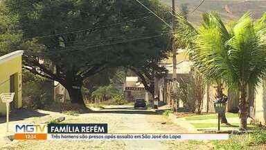 Bandidos fazem família refém em São José da Lapa - Ladrões roubaram caminhonete e foram perseguidos até BH pela PM. Durante a fuga, um motociclista ficou ferido.