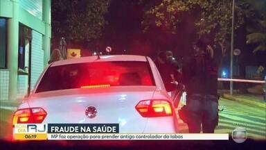 Ministério Público faz operação para prender antigo controlador do Iabas - A operação acontece na Barra da Tijuca, no endereço do antigo controlador do Iabas Eduardo Cruz.