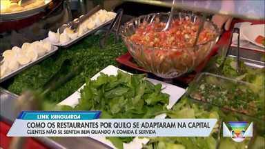 Restaurantes por quilo se adaptam na capital - Mesmo assim, estabelecimentos estão com dificuldades para se manter.