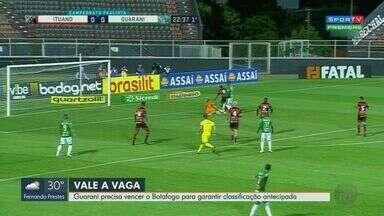 Guarani precisa vencer o Botafogo-SP para garantir classificação antecipada - Times se enfrentam em São Bernardo do Campo.
